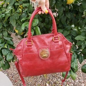 Elliott Lucca EUC  red leather crossbody bag